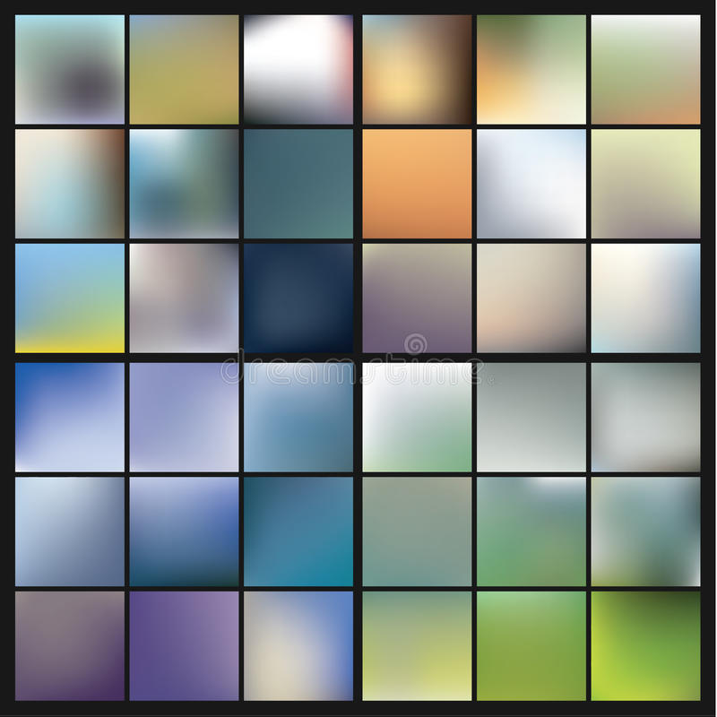 Free Vector Colorfully Blurred Backgrounds. Royalty Free Stock Photography - 40869507