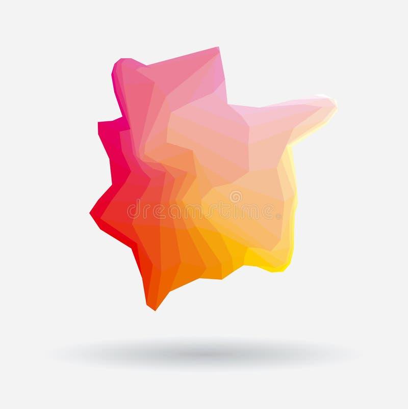 Vector colorido abstracto atractivo y rojo del fondo del mosaico stock de ilustración