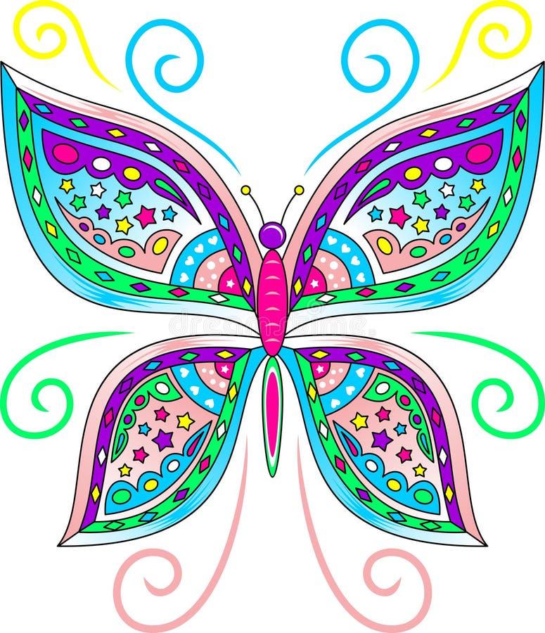 Vector colorido de la mariposa stock de ilustración