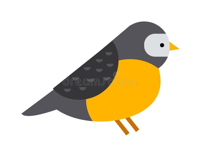 Vector colorido del animal salvaje del día de fiesta del pyrrhula del pájaro del invierno de la naturaleza del piñonero stock de ilustración