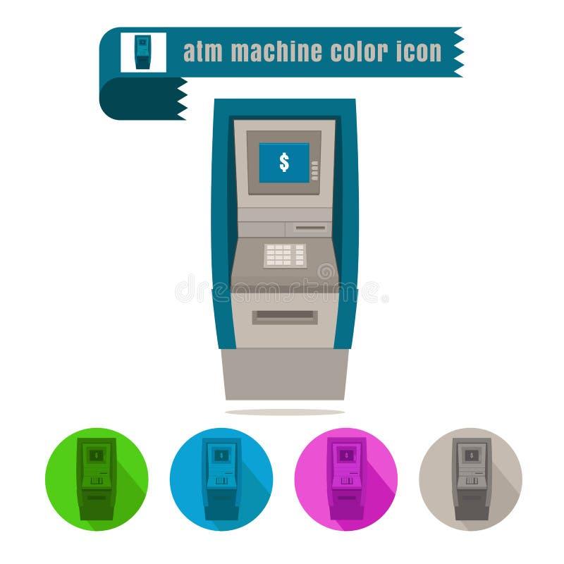 Vector colorido del diseño de la máquina de la atmósfera del icono en el fondo blanco libre illustration
