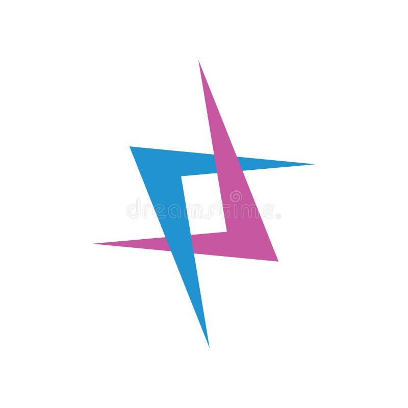 Vector colorido ligado simple del logotipo de las flechas stock de ilustración