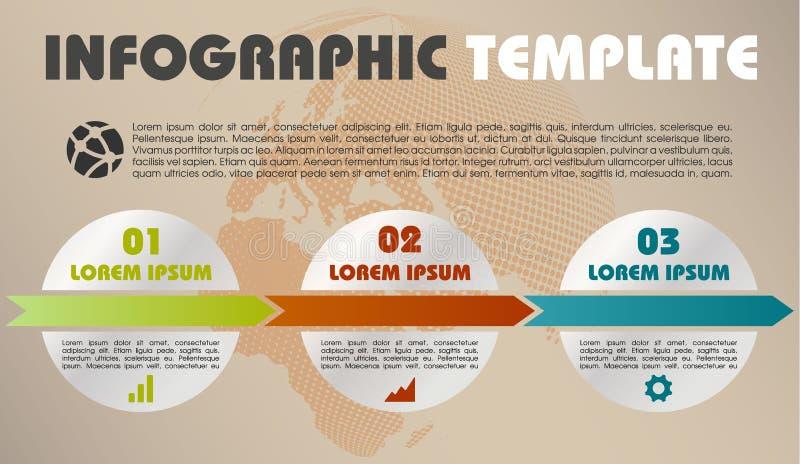Vector colorido moderno de la plantilla de las opciones del infographics con el círculo ilustración del vector