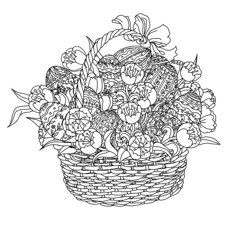Vector Coloring Book For Adult Easter Egg Stock Vector -8144