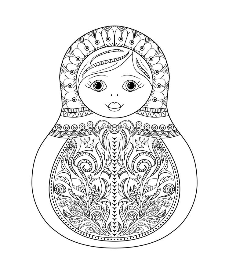 vector coloring book for and russian