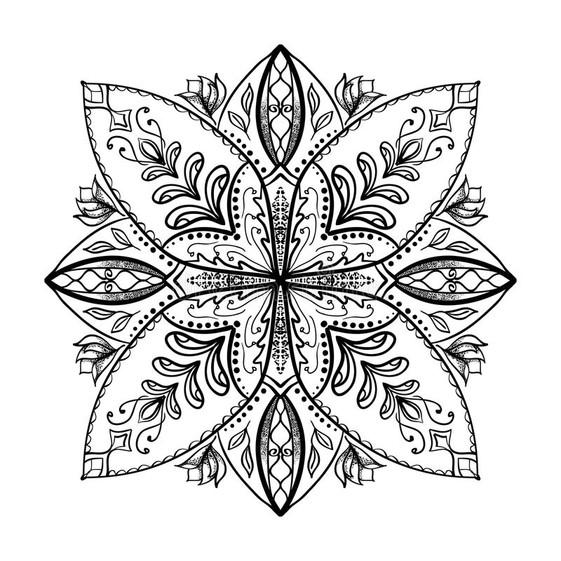 Download Vector Coloring Book For Adult Square Page Relax And Meditation Stock