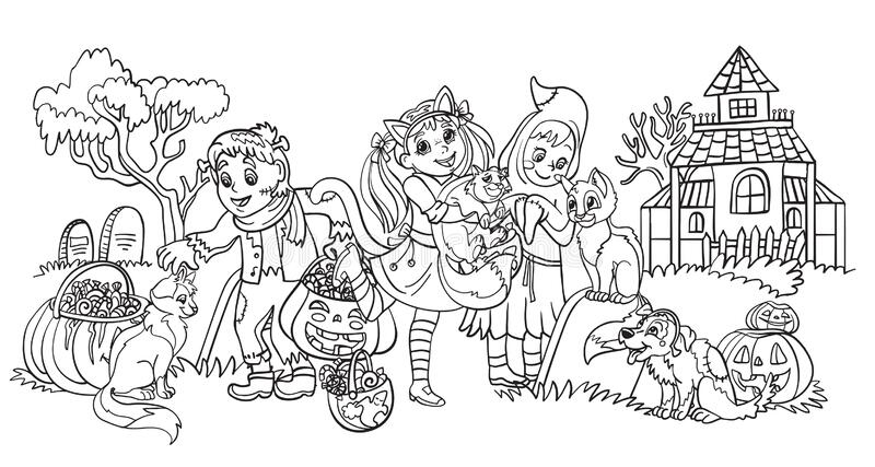 Halloween Cartoon Coloring Pages.Halloween Coloring Pages Stock Illustrations 266 Halloween Coloring Pages Stock Illustrations Vectors Clipart Dreamstime