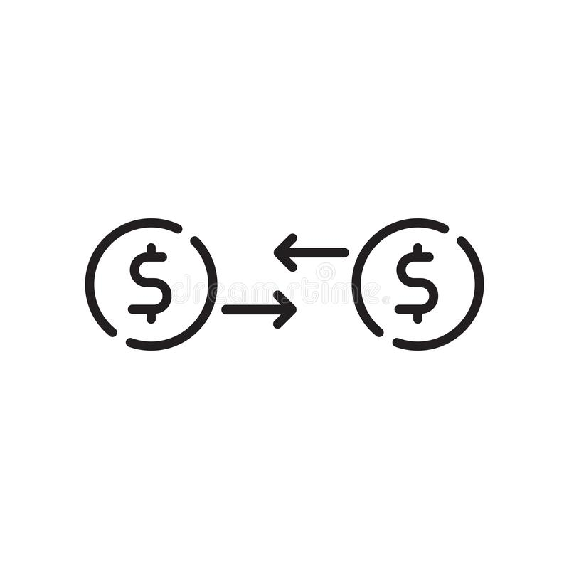 Vector comercial del icono aislado en el fondo blanco, la muestra comercial, la muestra y símbolos en estilo linear fino del esqu libre illustration