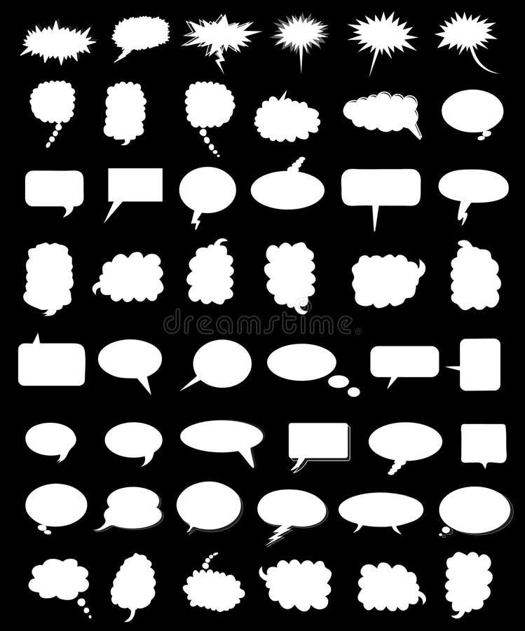Vector comic balloons. Vector illustration of comic balloons royalty free illustration