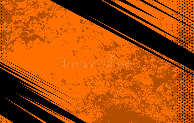 Vector Comic Book and Journal Background. Orange Grunge Texture. Illustration with Halftone Dots for royalty free illustration