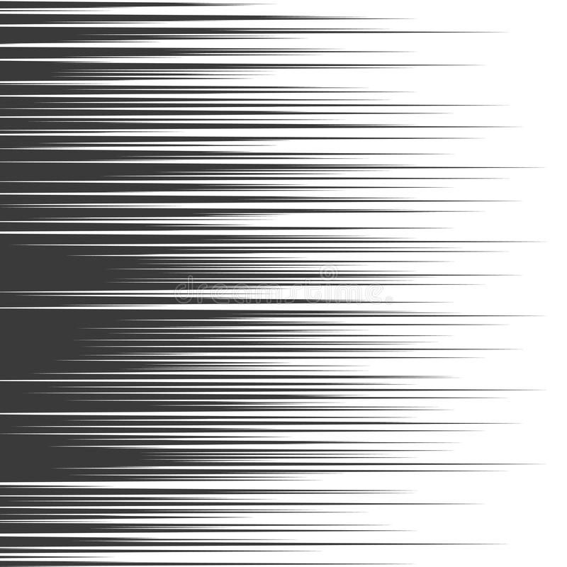 Vector comic book speed lines background stock illustration