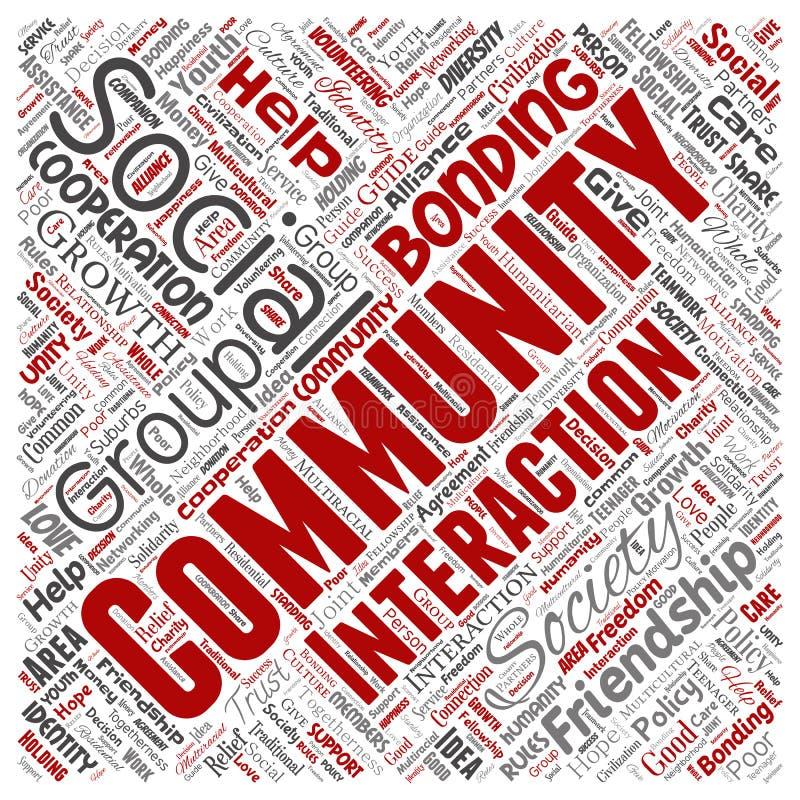 Vector communautair, sociaal, verbinding vector illustratie