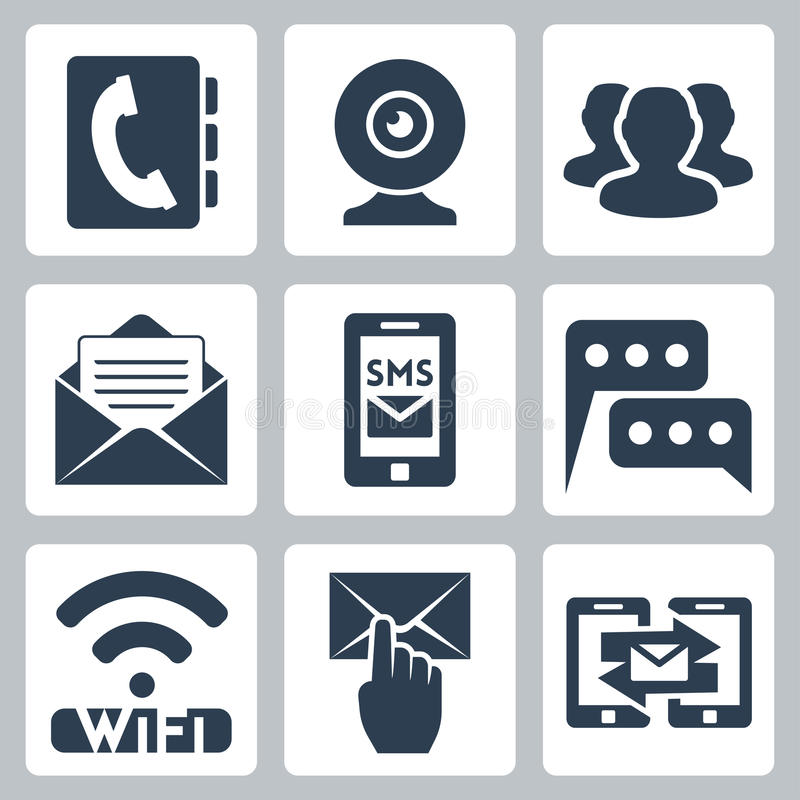 Download Vector Communication Icons Set Stock Vector - Image: 34985098