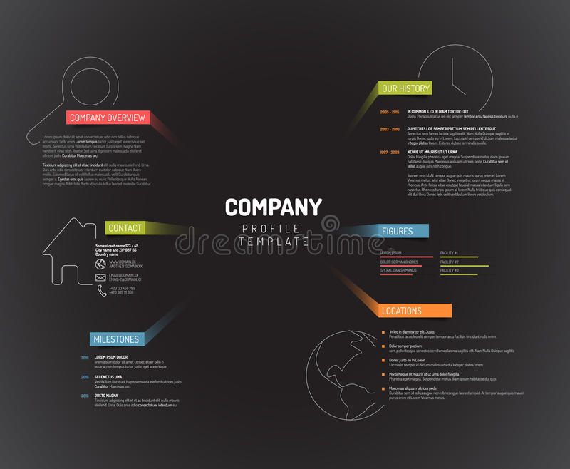 Vector Company infographic overview design template royalty free illustration
