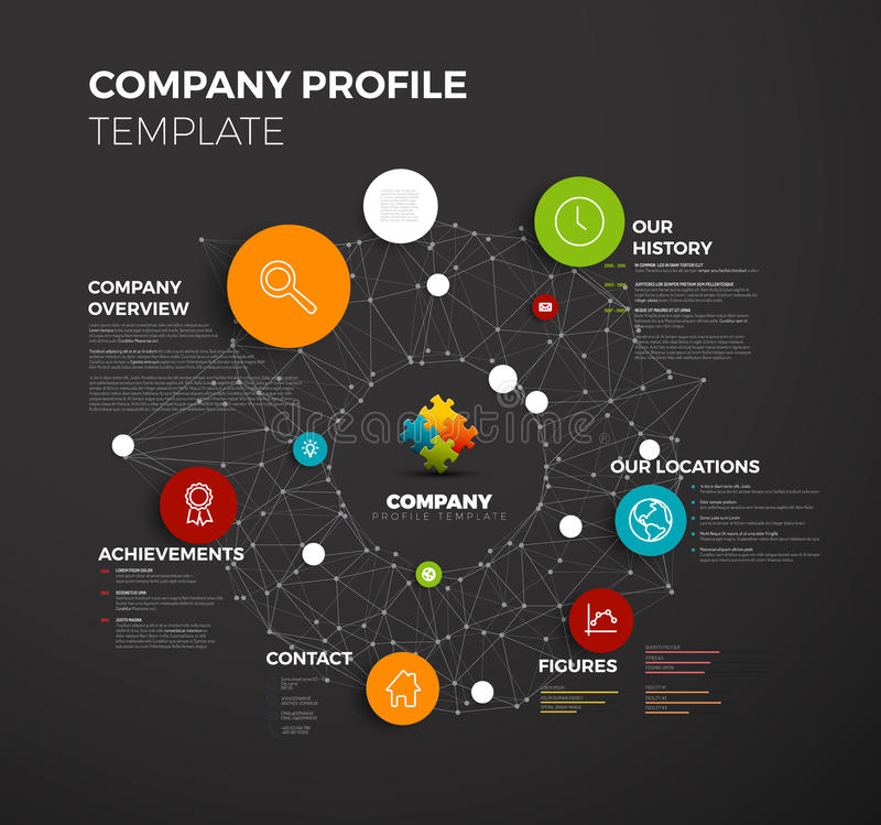 Vector Company Infographic Overview Design Template Stock Vector