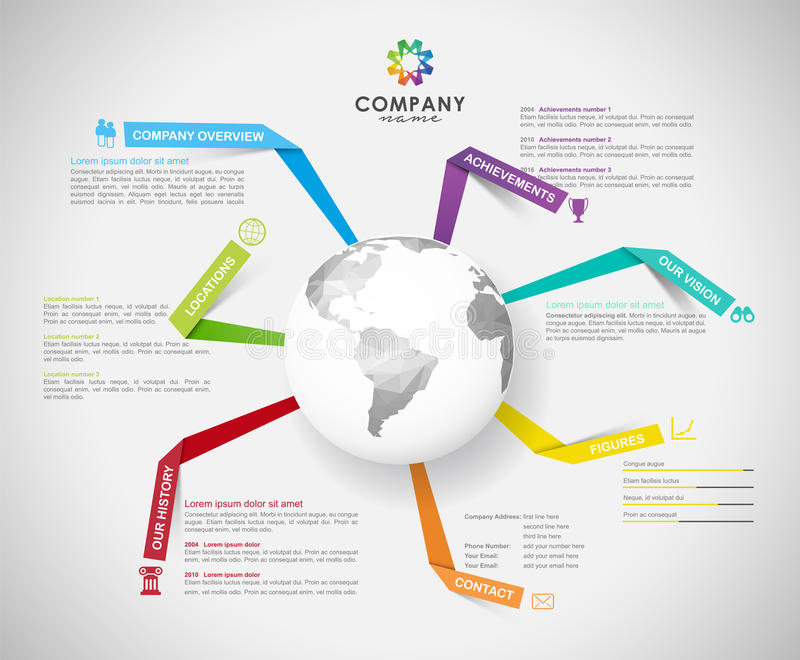 Vector Company infographic overview design template stock illustration