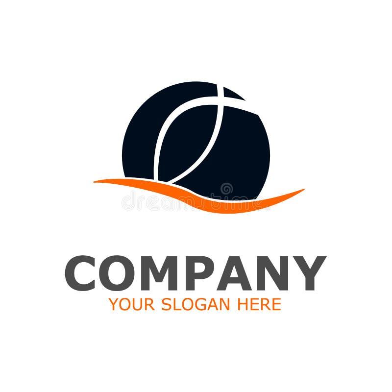 Vector company logo, globe design. Globe symbol, logo dark blue stock illustration