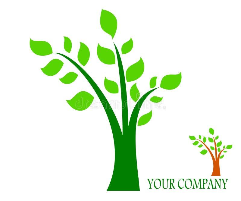 Drawing company logo tree. stock illustration