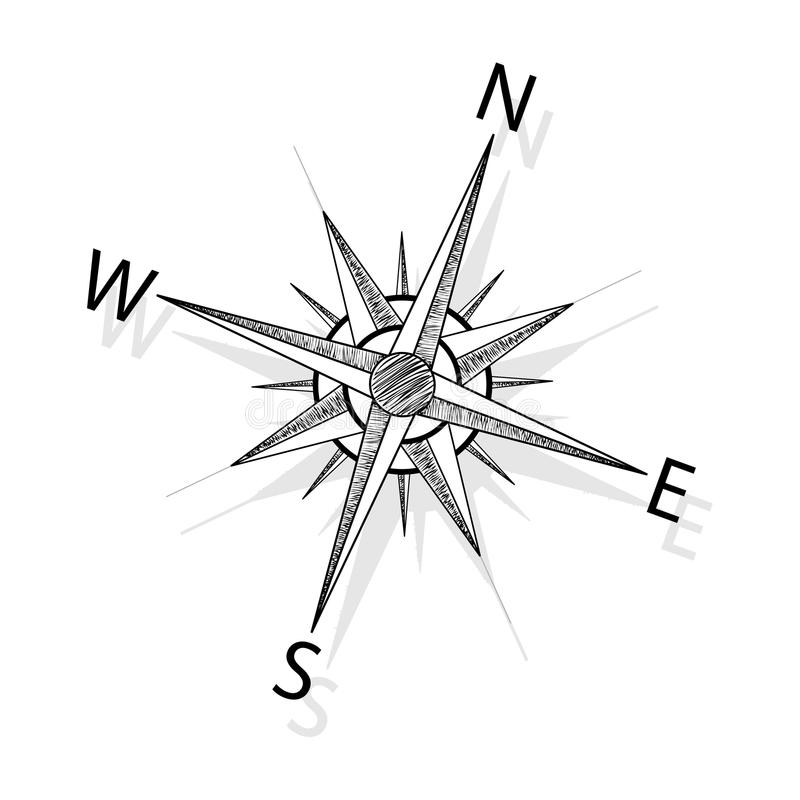 vector compass royalty free illustration