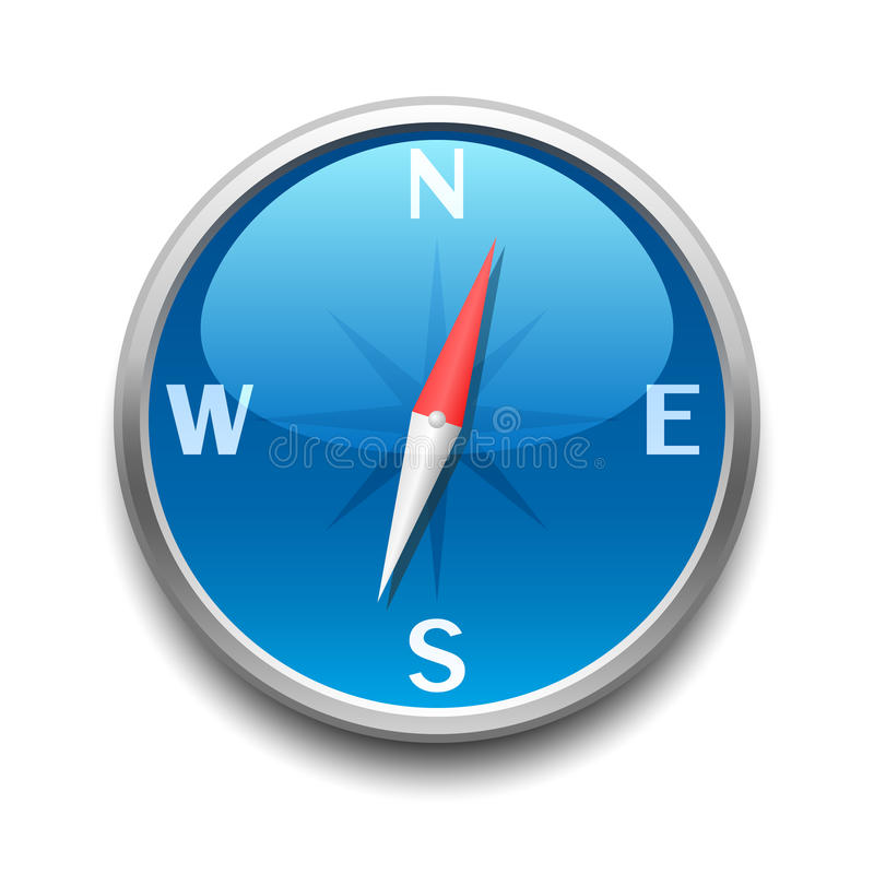 Vector compass icon vector illustration