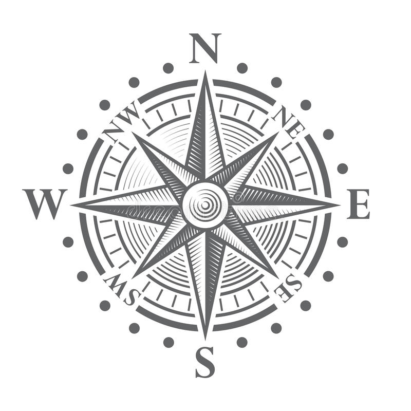 Vector Compass Rose. Illustration of a Vector hi quality Compass Rose