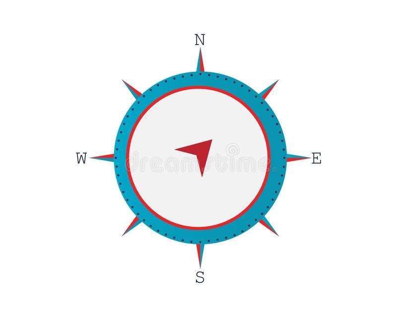 Vector - Compass signs and symbols stock illustration