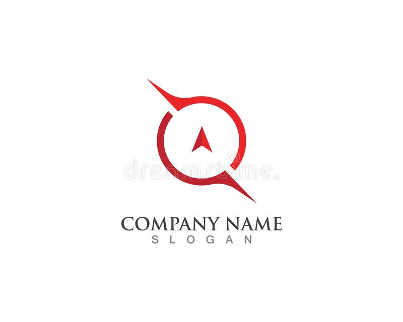 Vector - Compass signs and symbols logo stock illustration
