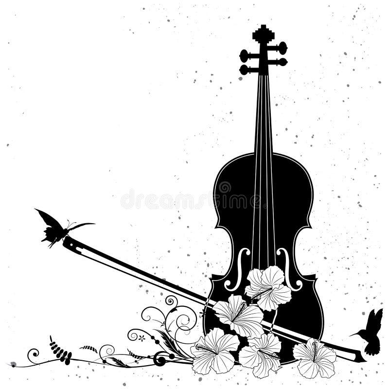 Vector a composição musical floral ilustração do vetor