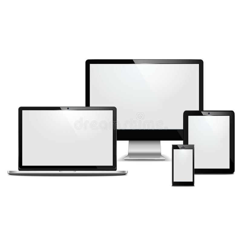 Download Vector computer devices stock vector. Image of devices - 30678731