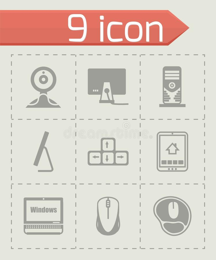 Vector Computer icon set royalty free illustration