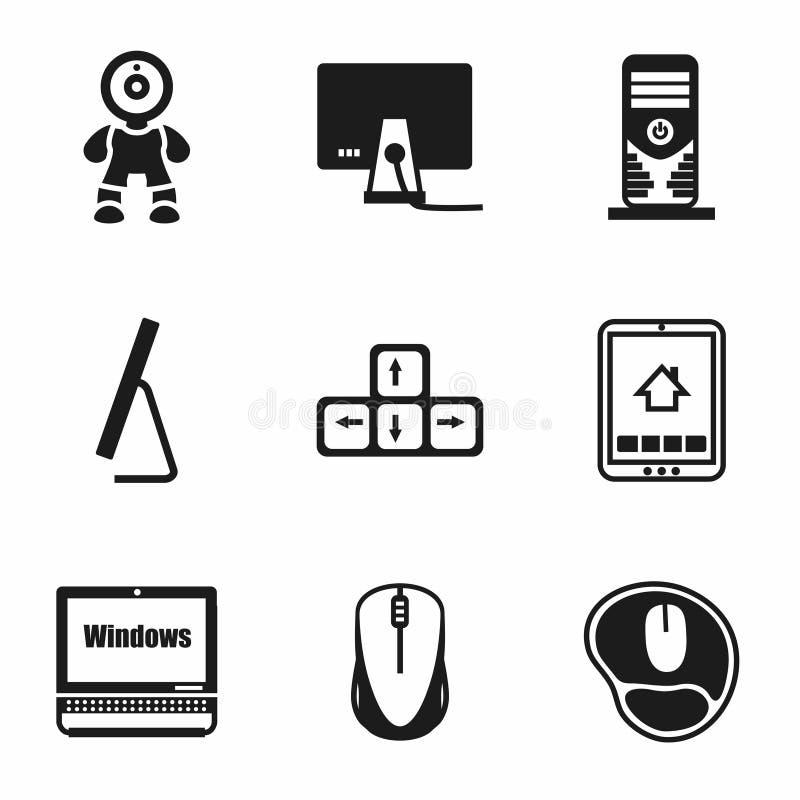 Vector Computer icon set vector illustration