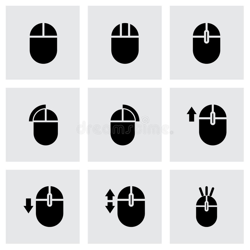 Vector computer mouse icon set vector illustration