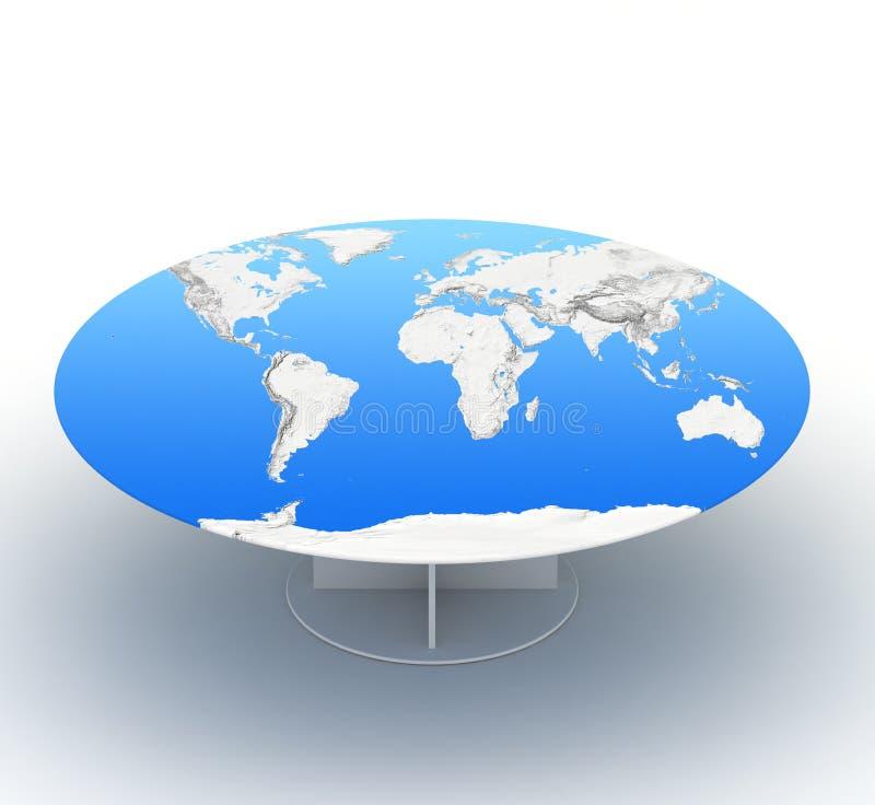 Vector con el paño global de la correspondencia stock de ilustración
