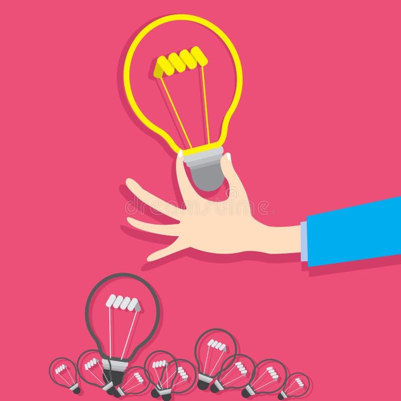 Vector concept creat idea design. Concept business simulation creat idea flat design vector illustration