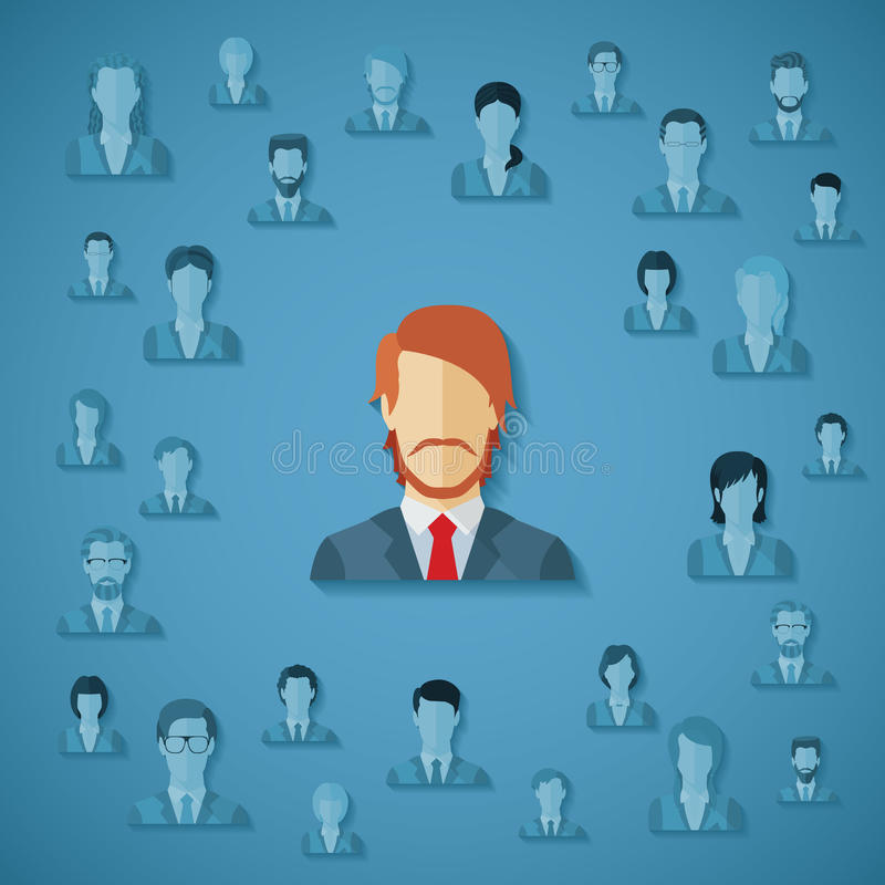 Vector concept of human resources management. vector illustration