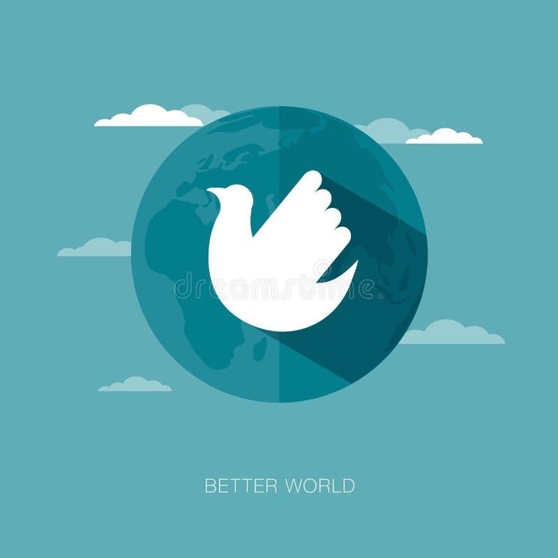 Vector concept illustration of better world stock illustration