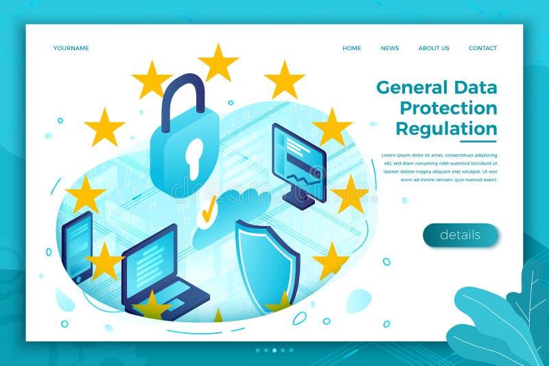 Vector concept General Data Protection Regulation royalty free illustration