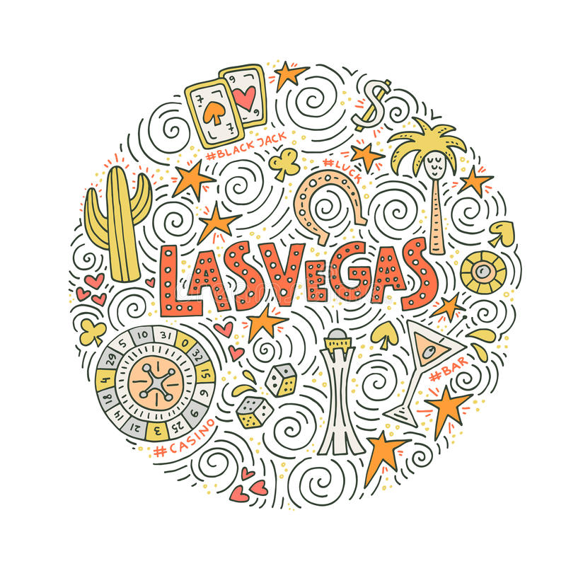 Free Vector Concept Of Las Vegas Royalty Free Stock Images - 95876949