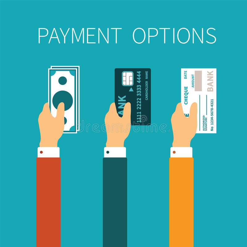 Free Vector Concept Of Payment Options In Flat Style Royalty Free Stock Photo - 51351795