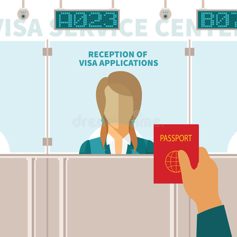 Vector concept of visa service center royalty free illustration