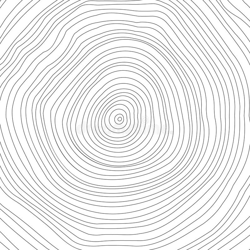 Free Vector Conceptual Background With Tree-rings. Tree Royalty Free Stock Image - 52041906