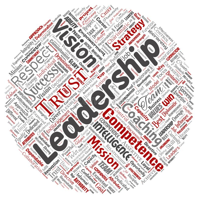 Vector business leadership strategy, management value stock illustration