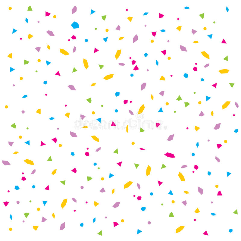 Vector confetti. An illustration of colourful confetti rain on white isolated background