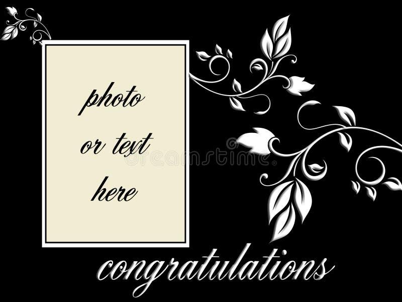 Download Vector - Congratulations Portrait Frame Stock Vector - Image: 12624713