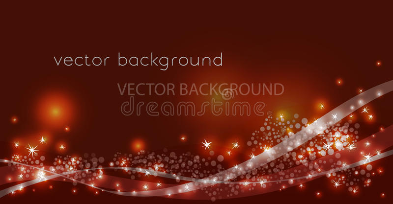 Vector constellation flow in space. Stock background of star wave for design royalty free illustration