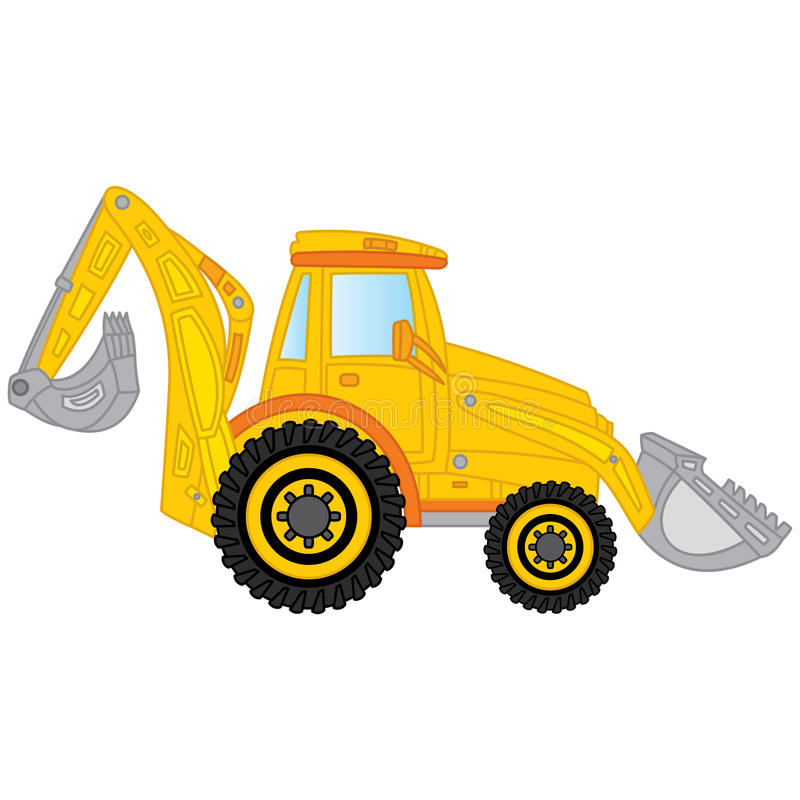 Vector Construction Digger. Vector Excavator. stock illustration