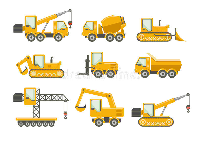 Vector construction icons stock illustration