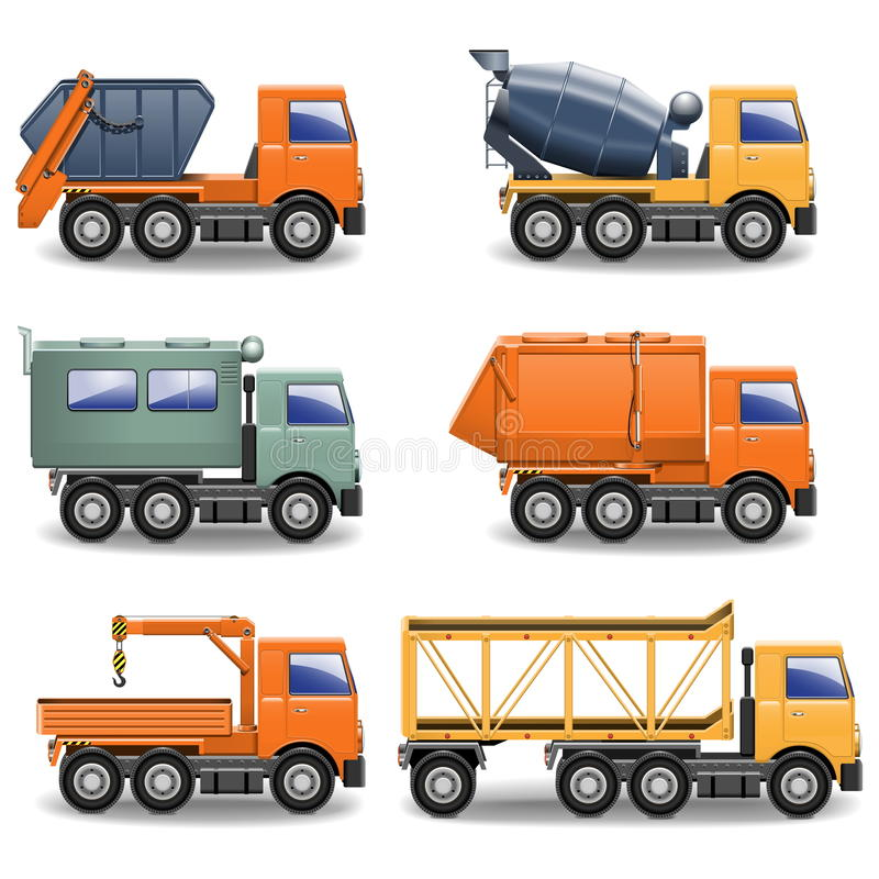 Free Vector Construction Machines Set Royalty Free Stock Images - 33478749