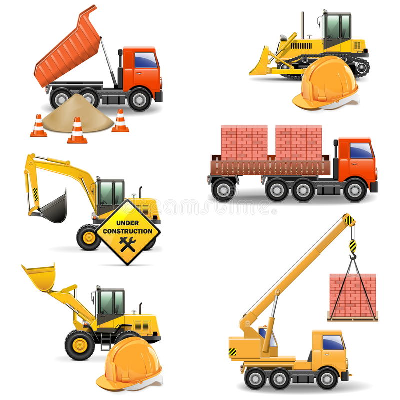Free Vector Construction Machines Set 4 Stock Photo - 33478820