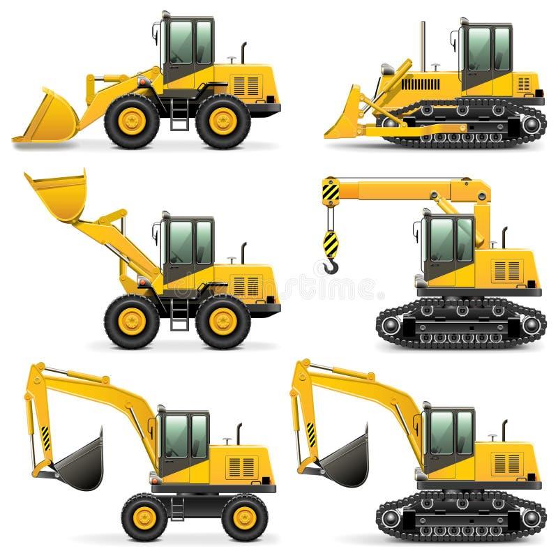 Vector Construction Machines Set 3 vector illustration